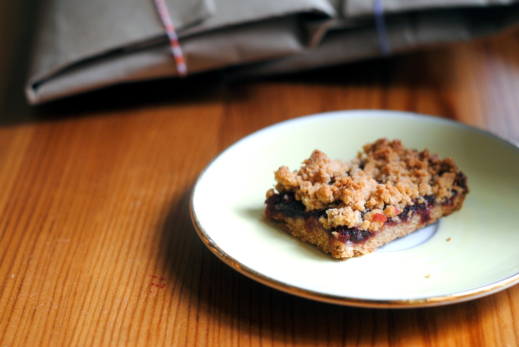 cranberry crumb bar