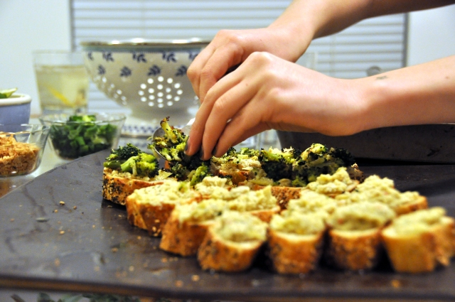 broccoli bruschetta